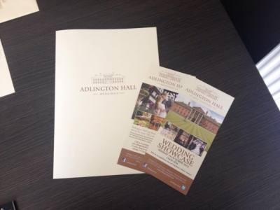 ... our new wedding brochure and leaflets arrived too.