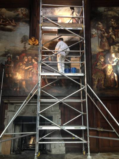 The Great Hall murals were painstakingly repaired and cleaned.