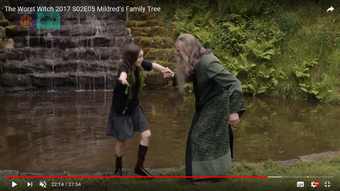 Episode 5 The Worst Witch - Screen shot taken from You Tube, filmed at the Cascade in the Adlington Hall Grounds