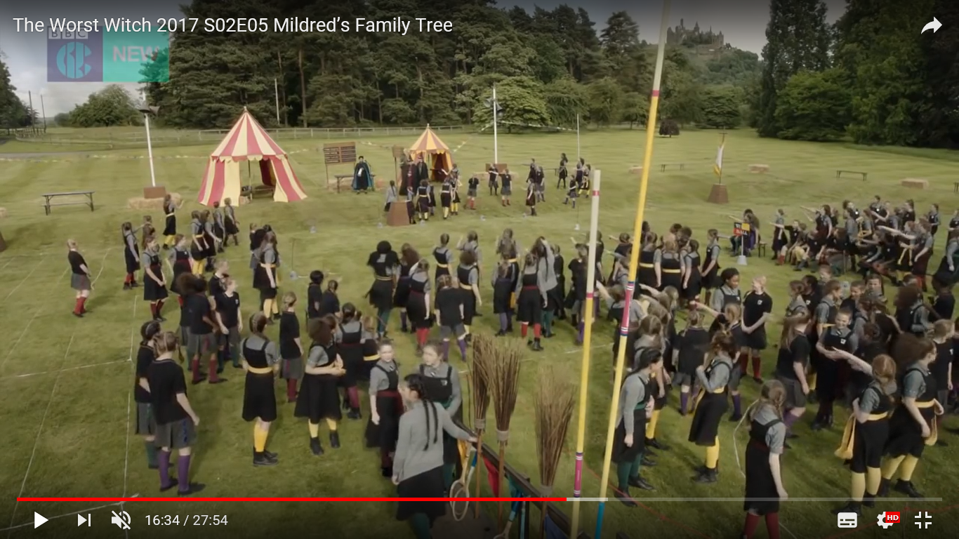 Episode 5 The Worst Witch - Screen shot taken from You Tube, filmed at Adlington Hall